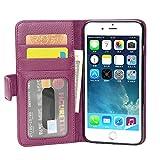 Cadorabo Funda Libro para Apple iPhone 8 Plus / 7 Plus / 7S Plus en Burdeos Violeta - Cubierta Proteccíon con Cierre Magnético e 3 Tarjeteros - Etui Case Cover Carcasa