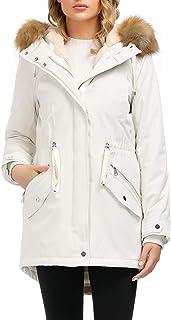 Royal Matrix Women's Hooded Warm Winter Coat Waterproof Jacket Faux Fur Lined Parka