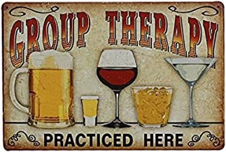 NUOLUX Plaque Poster for Cafe Bar Pub Beer Wall Decor Art Tin Sign Group Therapy..