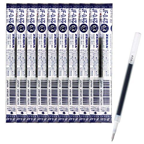 ゼブラ ジェルボールペン替芯 サラサ JF-0.4芯 ブルーブラック 10本 B-RJF4-FB