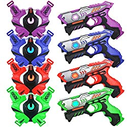 top rated TINOTEEN Laser Tag Weapon Pack and West 4-person Weapon Pack 2021