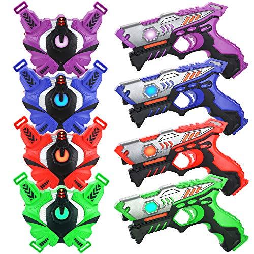 TINOTEEN Laser Tag Guns Set mit Westen, Infrarot Guns Set mit 4 Spielern