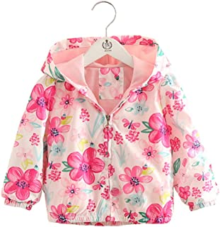 Toddler Baby Little Girl Hooded Princess Outerwear Kids Windbreaker Children Flower Coat Jacket