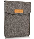 ProCase 6 Pulgadas Funda de Fieltro, Bolsa Portátil Cubierta Protectora for 5 – 6 Pulgadas Tablet Movil Smartphone, Amazon Kindle Paperwhite/Voyage/E-Reader E-Book - Negro