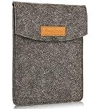 ProCase 6 pollici Borsa Custodia Sleeve, Portatile Feltro Custodia per il Trasporto Cover Protettiva per 5-6' pollici Tablet Smartphone E-Reader E-Book – Nero