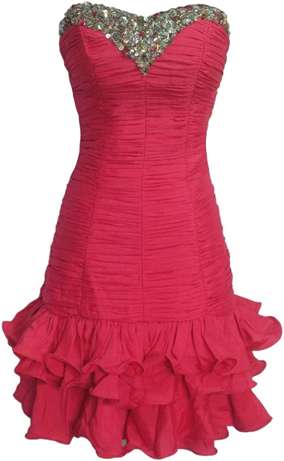 Alivila.Y Fashion Strapless Satin Prom Formal Cocktail Homecoming Party Dress 8247