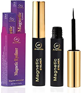 【2pcs】Amamba Magnetic Eyeliner,Waterproof and Smudge Resistant eyelashes liner,No iron powder and Natural Look