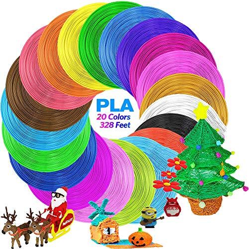 VABOO PLA Filament 1,75 mm, 3D-Stift 20 Farben PLA 5M 3D Filament PLA für 3D-Drucker und 3D-Stift, 3D Pen Filament für Kinder, Erwachsene
