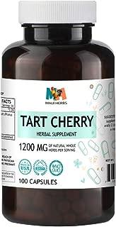 Tart Cherry 100 Capsules, 1200 mg per Serving, Extract Tart Cherry Fruit (Prunus Cerasus)