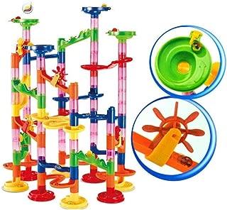 ZHENGYU Marble Runs  105 PCS Educational Building Blocks Set Construction Stem Toys Marble Maze Game Railway Toys DIY Race Coaster Set