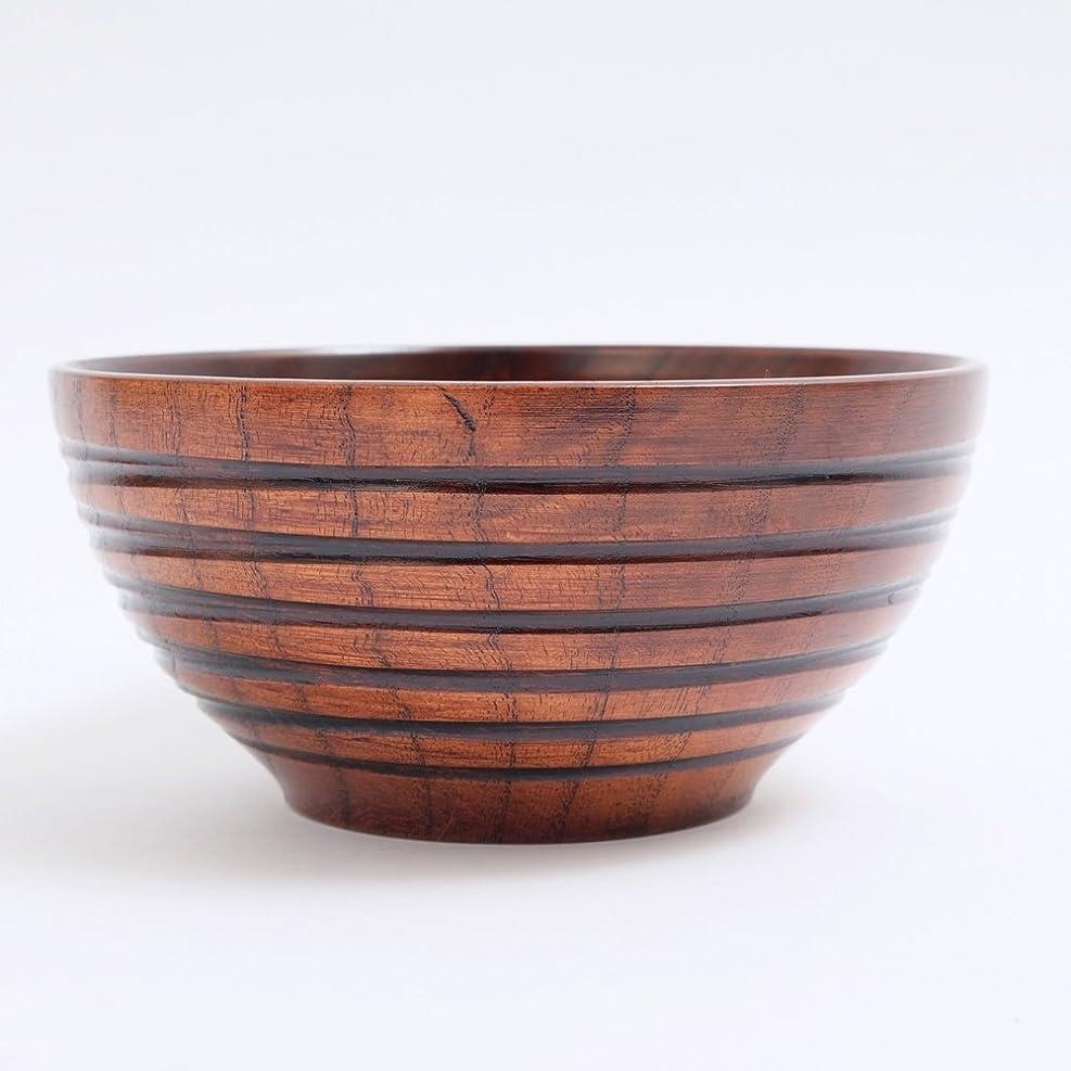 それによってうそつき疲れた天然木製 5.5寸 丼椀 宴 木目 漆塗り 16.8cm