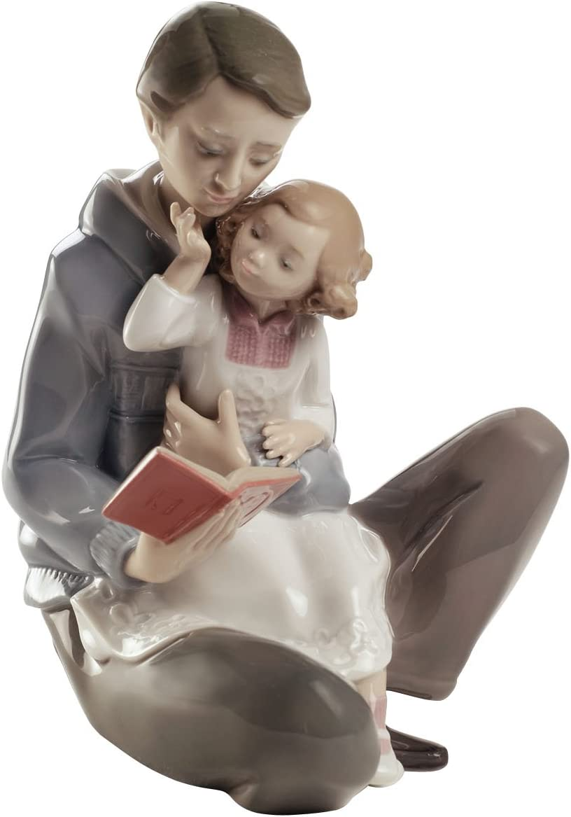 NAO trust Max 72% OFF Read Me A Story. Dad Porcelain Figure.