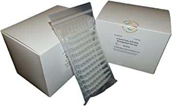0.2ml 8-Tube PCR Strips with Individual Caps For DNA RNA PCR Application, 60 strips/box, 2 box/pack