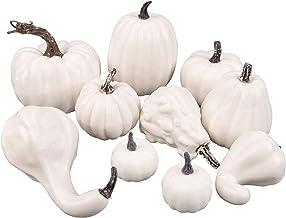 10st White Kunstmatige Pumpkins Diverse Fake Foam Pompoenen Oogst van de daling Mini Pompoenen for de herfst Thanksgiving ...