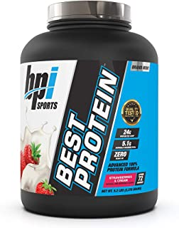 BPI Sports Best Protein Advanced 100% Protein Formula, Strawberries and Cream, 5.2 Pound