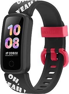 BIGGERFIVE Fitness Tracker Watch for Kids Girls Boys Teens, Activity Tracker, Pedometer, Heart Rate Sleep Monitor, Vibrating Alarm Clock, IP68 Waterproof Calorie Step Counter Watch