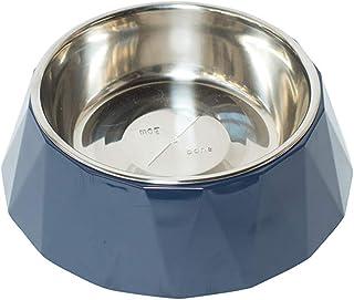 MOG & BONE Faceted Designer Melamine Dog Bowl Navy700ml
