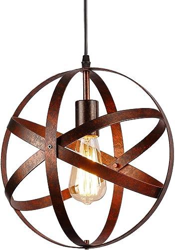 Suspension Luminaire Industrielle,design lampe plafonnier vintage en métal luminaires suspension Abat-jour Lustre ave...
