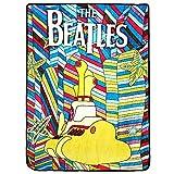 The Beatles Yellow Submarine Psychedelic Fleece Throw