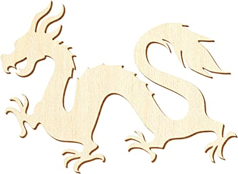 Chinesischer Holz Drachen Deko Basteln 5-50cm