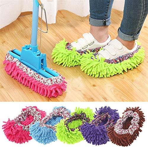 ZYYYYY Zapatillas de Limpieza Trapeador para el hogar Limpiador de Pisos Zapatilla de felpilla Microfibra Fundas para Zapatos Trapeador de Arrastre (10PCS)