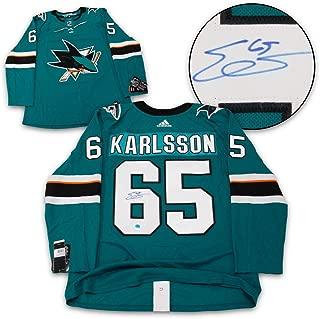Erik Karlsson San Jose Sharks Autographed Adidas Authentic Hockey Jersey