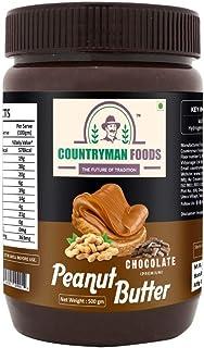 Countryman Foods Peanut Butter Chocolate Flavour 500 gm | Premium, Gluten Free, Non-GMO, Vegan, Tasty, Healthy | Zero Chol...