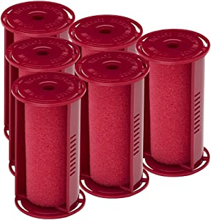 Caruso Professional Medium Molecular Replacement Steam Hair Rollers with Shields, 6-Pack, 1-1/4