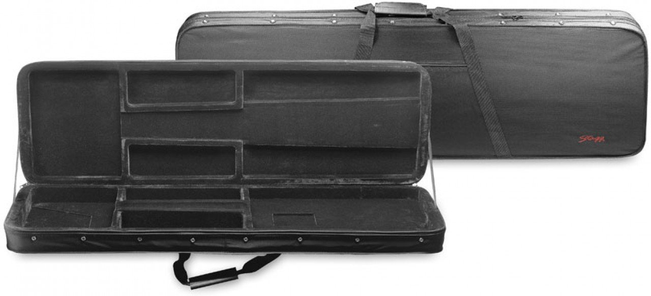 Cheap Stagg HGB2-RB Basic Foam Padded Rectangle Electric Bass Guitar Soft Case with Shoulder Strap - Black Black Friday & Cyber Monday 2019