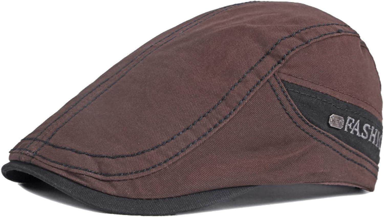 Casual Cotton Beret Hats Men Retro Flat Peaked Herringbone Ivy Caps Outdoor Painter Beret Sun Hat Sunshade Newsboy Cap