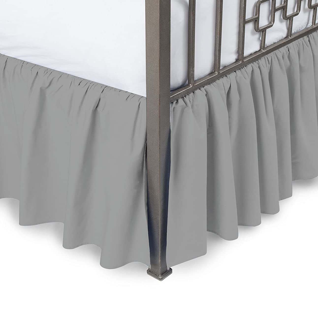 追加する主に精神豪華な快適コレクション800tc Pure綿ほこりフリル付きベッドスカート18?