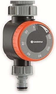 Gardena 1169-20 Temporizador para grifos con rosca de 26,5 mm (G 3/4) o 33,3 mm (G1), Gris/Naranja