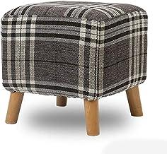 Yxsdd Ottoman Footstools Living Room Coffee Table Sofa Stool Household Bathroom Restaurant Dressing Stool Feet Square Soli...