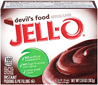 JELL-O Instant Devil's Food Pudding & Pie Filling (3.8 oz Boxes, Pack of 6)
