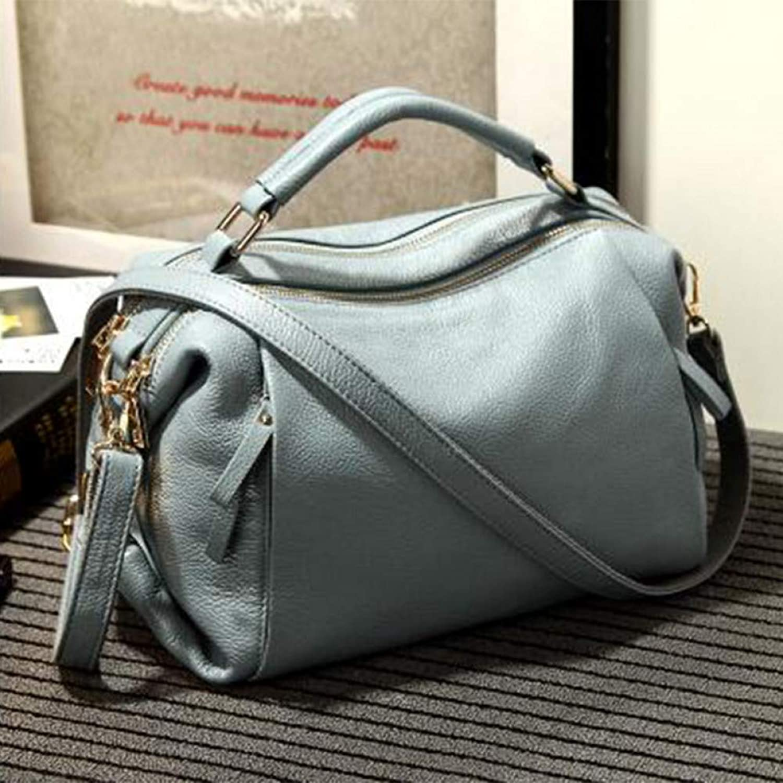 JQSM Handbag Fashion Women Tote Bag with A Pillow Bag Pu Solid Shoulder Messenger Bags