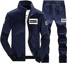 VESKRE Men's Hoodies Pullover Big and Tall Winter Warm Fleece Zipper Sweater Jacket Outwear Coat Top Pants Sets