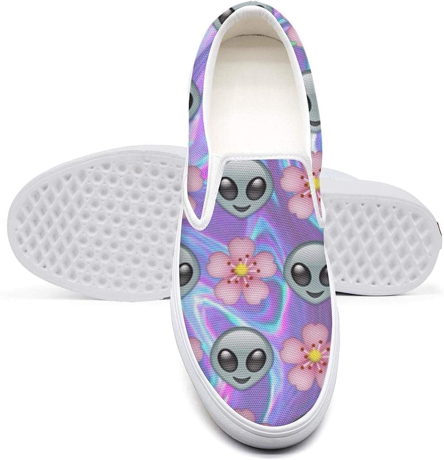 Ditto.1 bluee Alien Astronaut Led Women's convas Loafers Slip ons Casual Fashion