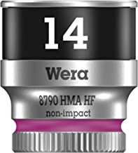 Wera 8790 HMa HF Zyklop Socket with 1-4 inch Drive with Holding Function, 14.0 mm