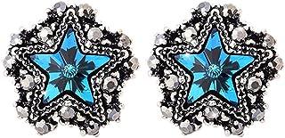 Pendientes Pendientes retro en forma de estrella de cinco puntas temperamento de moda simple pendiente en forma de estrell...