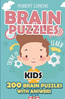 Brain Puzzles Kids: Paint Area Puzzles - 200 Brain Puzzles with Answers (Math and Logic Puzzles for Kids)