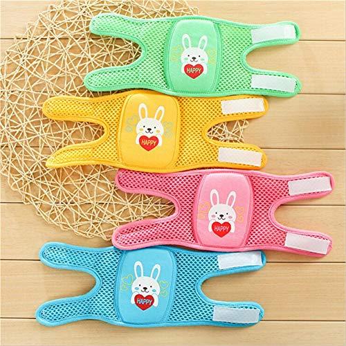Baby Knieschoner 1 Paar Baby Krabbelknieschoner verstellbar Cartoon Knieschoner Knieschoner Ellenbogenschützer Armschützer Sicherheits-Schutz Kleinkinder Mädchen und Jungen für 0-5 Jahre, rosa