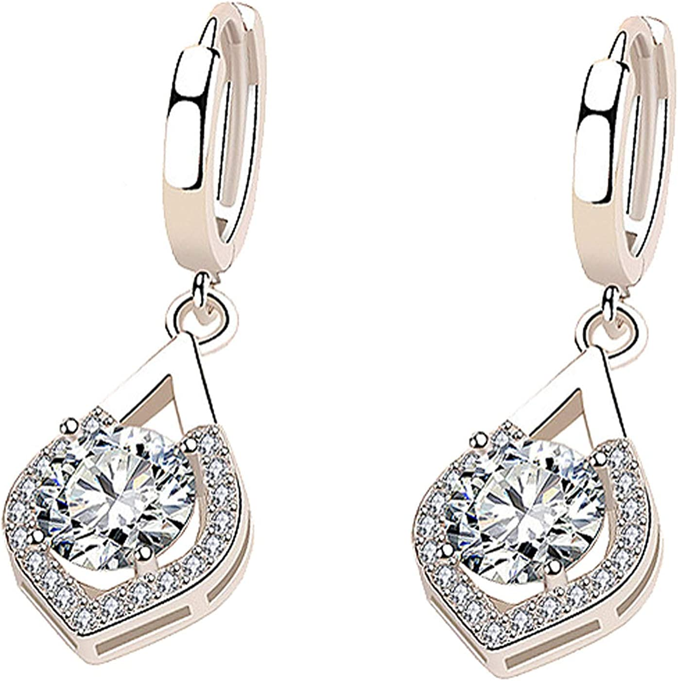 Cuff Earrings for Women Girls Piercing Cuff Wrap Flower Earrings Cubic Zirconia Drop Dangle Petal Tassel Crystal Jewelry