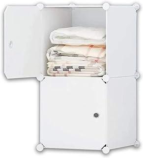 BlockCube Armoire Portable à Monter soi-même, Organisateur de Rangement modulable, Armoire, Cube Plus Profond avec Tige de...