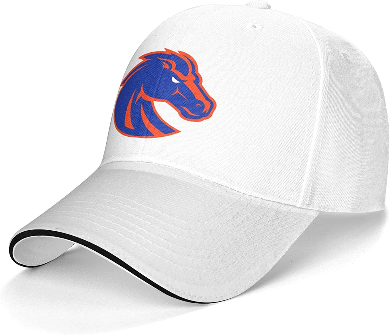 YUMENG Mens&Womens Boise State Broncos Snapback Hats caps for Baseball, Basketball, Football Gray