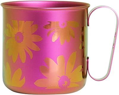 ホリエ チタンデザインマグカップ 花&葉 フラワー(ピンク) TMA-206C