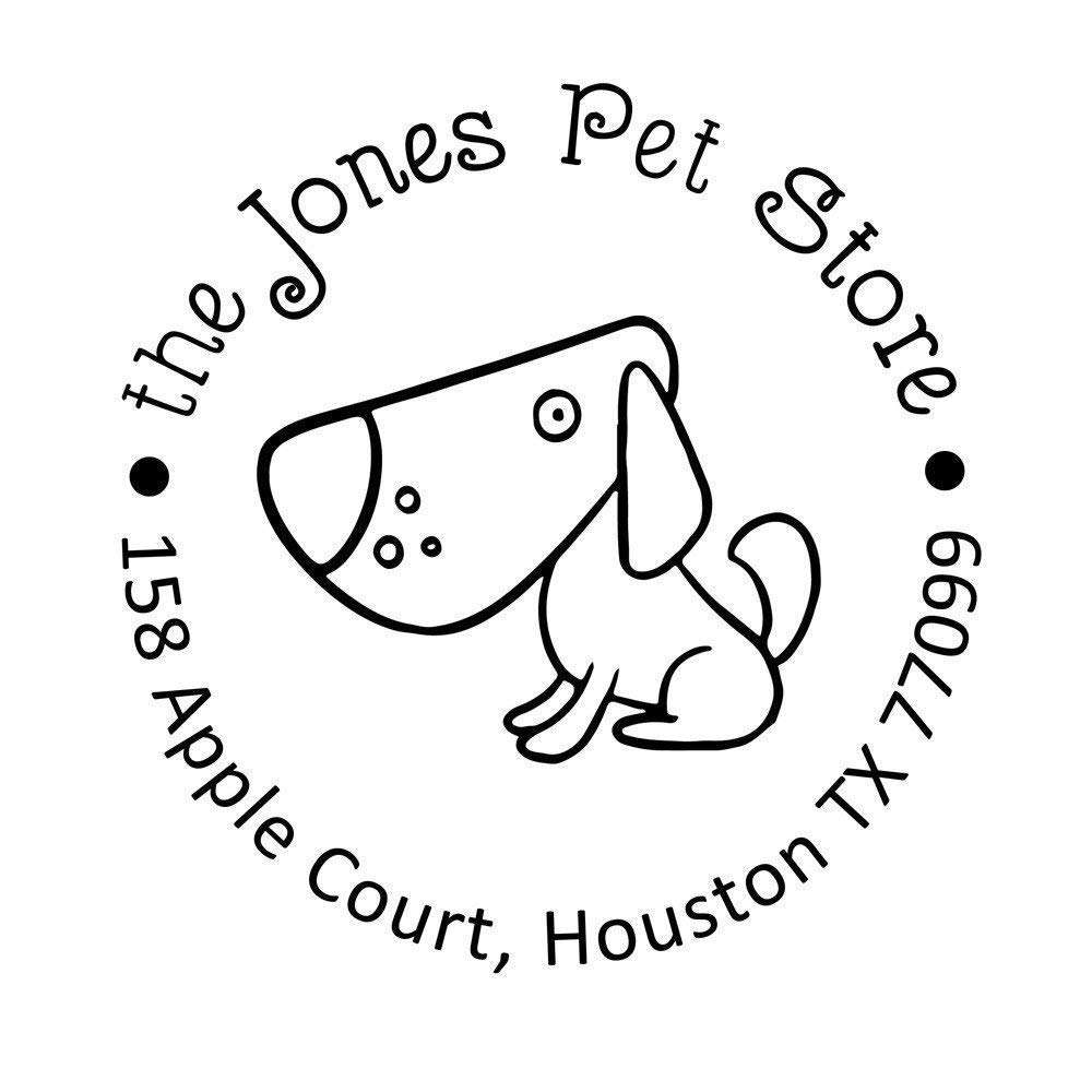 Puppy Small Dog Pet Store LOGO for Stamp Handmade Card Cheap SALE Start Business New Orleans Mall
