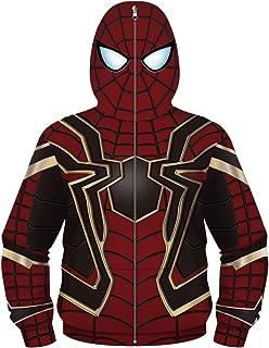 Plustrong Boys Teen Youth Full Zip Up Hoodies Costume Cosplay Jackets