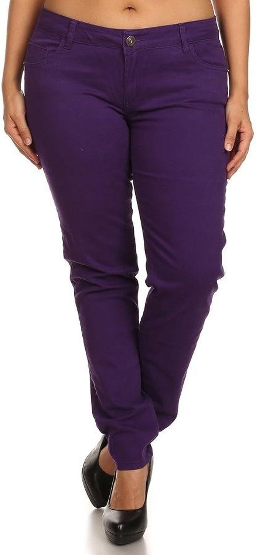 New 1826 Stretch Premium Twill Pants MID-RISD Womens Plus Size Skinny Pants