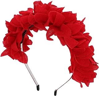 Jersey Petals Wreath Headband Girls Hair Band - Red