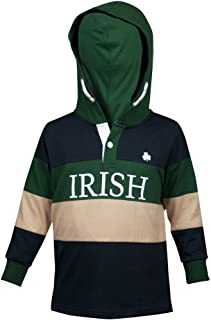 Croker Kids Irish Hooded Rugby Jersey - Perfect for Children - Quality Cotton Sports Apparel